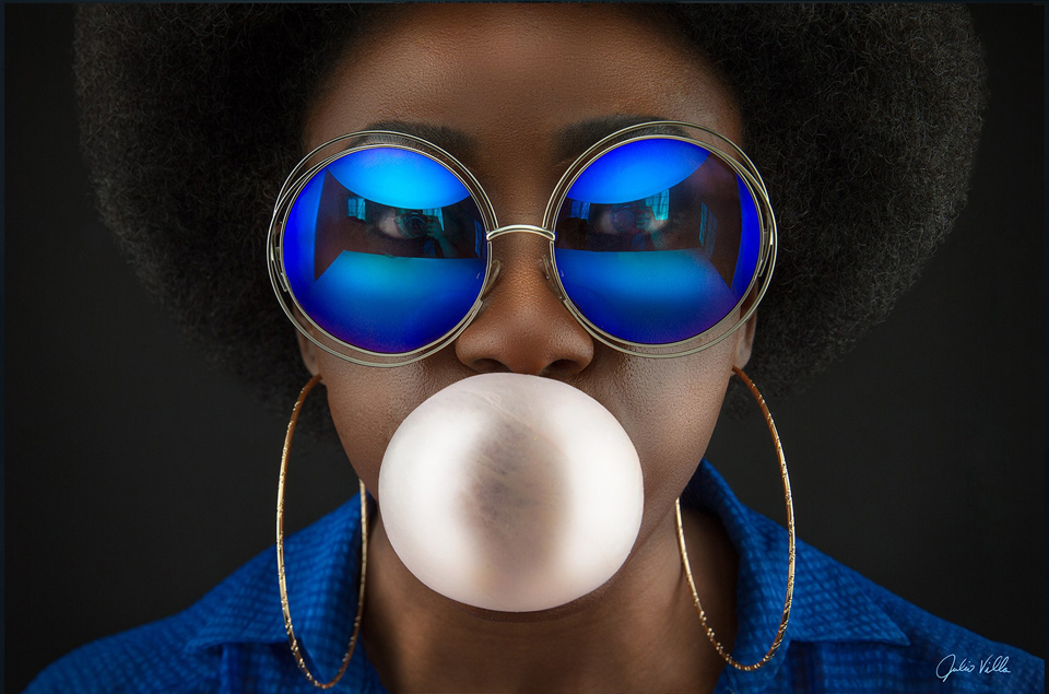 Afro with bubble