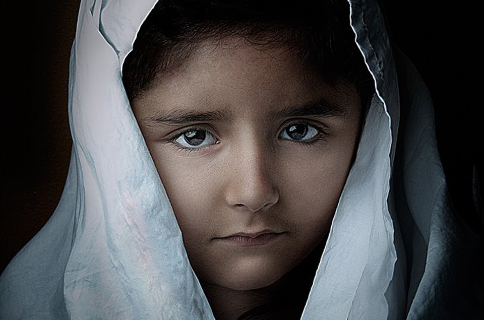 portrait of a Syrian girl